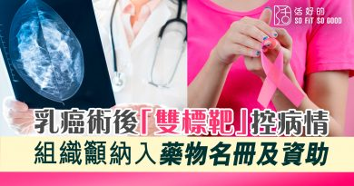 乳癌術後「雙標靶」控病情 組織籲納入藥物名冊及資助