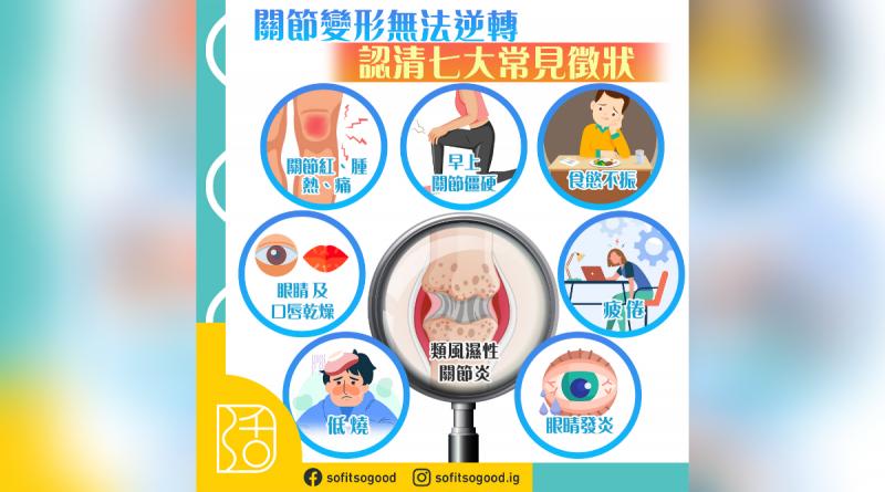 【類風濕性關節炎】類風濕不同風濕 認清七大常見徵狀