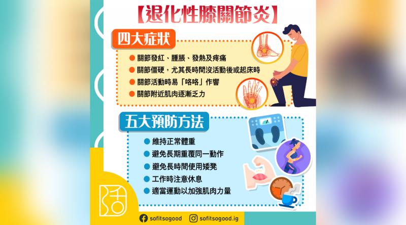 【退化性膝關節炎】四大症狀及五大預防方法